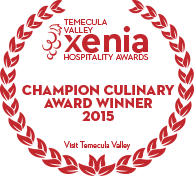 Xenia Champion Culinary Award 2015 Winner
